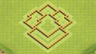getlinkyoutube.com-Clash of Clans Town Hall 5 Defense (CoC TH5) BEST Hybrid Base Layout Defense Strategy