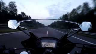 getlinkyoutube.com-Honda cbr500r top speed test ride on the German autobahn