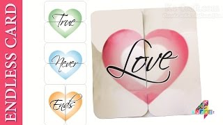 DIY: How To Make An Endless Love Card -True Love Never Ends #Christmas #NewYear