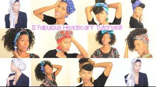 getlinkyoutube.com-12 Head Scarf Styles For Natural Hair -KashTV