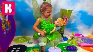 getlinkyoutube.com-Катя Фея Динь Динь открывает много игрушек в палатке Disney Fairies Tinker Bell a lot of toys