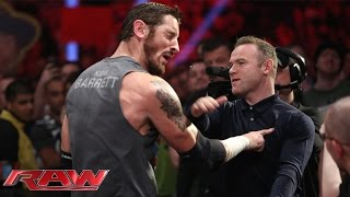 getlinkyoutube.com-Wayne Rooney slaps King Barrett: Raw, November 9, 2015