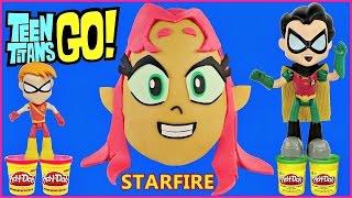 getlinkyoutube.com-TEEN TITANS GO! GIANT PLAY DOH SURPRISE EGG STARFIRE Blind Bags Playmobil Spongebob Minions