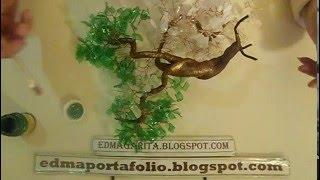 getlinkyoutube.com-Tutorial Hermoso Bonsai Reciclado -Armando Arbolito 03 _Botella de Plastico