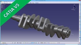 getlinkyoutube.com-11.2 Kurbelwelle -  Crankshaft - Catia v5 - Methods - Multibody - Copy paste special