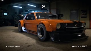 Need For Speed 2015 - Ford Mustang 1965 - Customize Car | Tuning (XboxONE HD) [1080p]