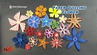 Tutorial 20 Paper Quilling Fowers | How to make | JK Arts 922