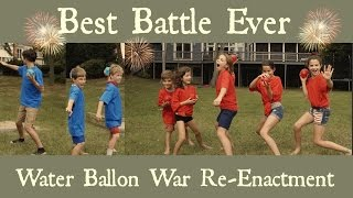 getlinkyoutube.com-Best Battle Ever | Water Balloon War Re-Enactment |  | Flippin' Katie