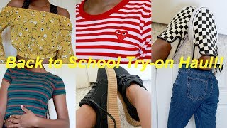 HUGE AFFORDABLE BACK TO SCHOOL TRY-ON HAUL!! | Romwe