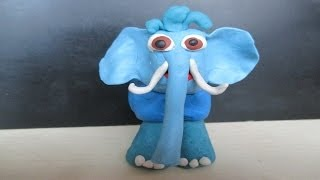 getlinkyoutube.com-Mold Cute Jumbo 3D Kids Play-How To Make Elephant with Modeling Clay