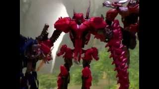 getlinkyoutube.com-Transformers Age of Extinction Stop Motion Dinobot