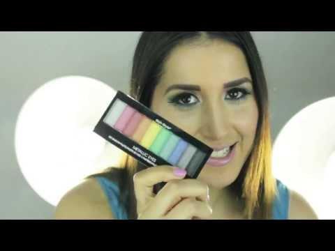 Maquillaje colorido para el verano - Colorful makeup