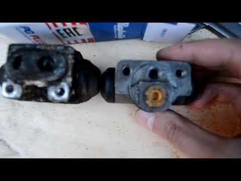 Замена заднего тормозного цилиндра(шланга) додж стратус.