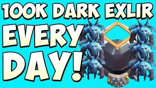 "getlinkyoutube.com-Clash of Clans Farming 100k Dark Elixir Everyday | ""How To Farm Dark Elixir Fast 2015"""