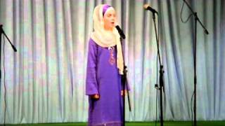 getlinkyoutube.com-Tala Al Bedru Alejna  [Bosnian  young girl ]