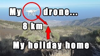 getlinkyoutube.com-CHALLENGE: can I fly my drone 8 km to my holiday house and land it on the terrace?