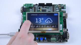 """getlinkyoutube.com-TouchGFX Demo on STM32F429 Evaluation Board with a 4.3"""" Display"""