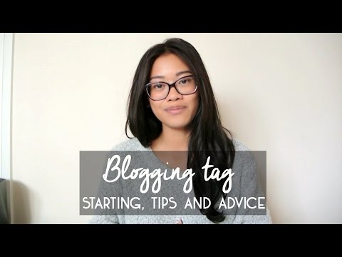 Blogging tag - Starting, tips & advice | IDRESSMYSELFF