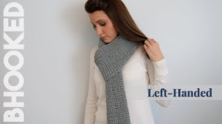 How to Crochet a Scarf for Complete Beginners - Left Handed