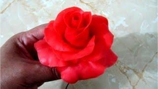 getlinkyoutube.com-Rosas rojas de porcelana fría paso a paso