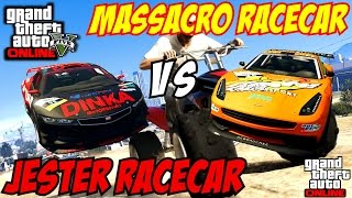 getlinkyoutube.com-GTA 5 PS4 - Massacro Racecar Vs Jester Racecar | #108 (GTA V)