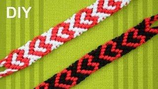 getlinkyoutube.com-Heart Friendship Bracelet for Valentines Day / DIY Tutorial