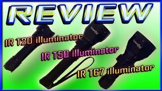 getlinkyoutube.com-REVIEW UniqueFire 3 IR led torches IR T20 , T50 illuminator Plus Mini T67 infrared torch