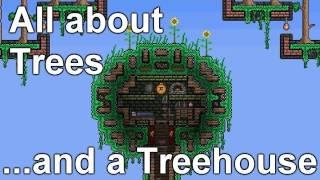 getlinkyoutube.com-Terraria - Saplings, Trees, Treefarm and Treehouse... wts wood