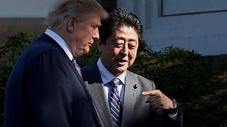 Donald Trump Japonya'dan Kuzey Kore'yi hedef aldı