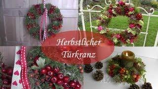getlinkyoutube.com-DIY - Herbstdeko - Türkränze aus Hagebutten, Beeren, Blüten und Moos