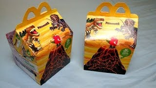 getlinkyoutube.com-Happy Meal Dino Toys [Egg & Vulcano] - Predasaurs