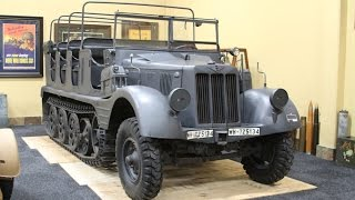 getlinkyoutube.com-World War 2 Hanomag Sd. Kfz. 11 German Half-Track 1938 Walk Around