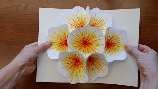 getlinkyoutube.com-How to Make A Bouquet Flower Pop-up Card