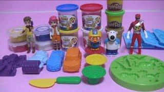 getlinkyoutube.com-또봇 클레이 장난감 Tobot Clay Toys 플레이도우 뽀로로 파워레인저 다이노포스 Pororo Dino Charge