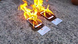 getlinkyoutube.com-Apple iPhone 6 vs Samsung Galaxy S5 ON FIRE