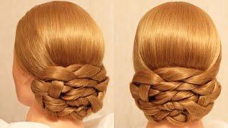 getlinkyoutube.com-Вечерняя причёска - плетение - Hairstyles by REM