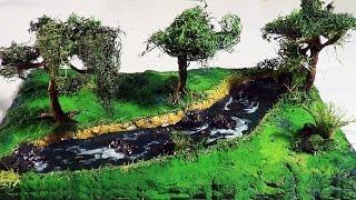 DIORAMA - Maquete - Paisagem com rio / Maquete scenery with river / (diorama) Paisaje con río