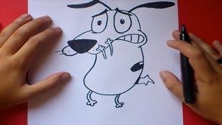 getlinkyoutube.com-Como dibujar a Agallas el perro cobarde   How to draw Agallas the Cowardly Dog