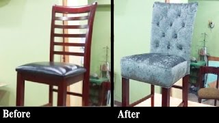 HOW TO REUPHOLSTER A BAR STOOL WITH A BUILT IN SEAT - ALO Upholstery