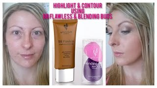 getlinkyoutube.com-Highlight and Contour Using BB Flawless and Blending Buds from Younique