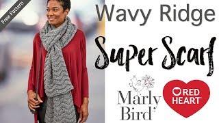 getlinkyoutube.com-Crochet Wavy Ridge Super Scarf