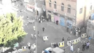 getlinkyoutube.com-اليمن : فيديو أخر من أمام مسجد البليلي بعد التفجير الإرهابي أثناء صلاة العيد وسط العاصمة