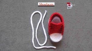 getlinkyoutube.com-How to crochet a nice shoelaces