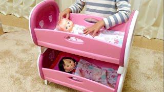 getlinkyoutube.com-メルちゃん ぽぽちゃん 2段ベッド / Baby Doll Bunk Bed / Mell-chan Popo-chan