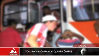 TORCIDA DA COMANDO QUEBRA ÔNIBUS