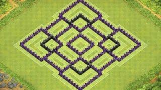 getlinkyoutube.com-TH 9 Trophy Base - Clash of Clans