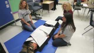 Wrap Mat child restraint device demonstrated at Magnolia School Exceptional