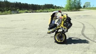 "getlinkyoutube.com-Aras Gibieža stunt ""lap without wheel"" practice before Autoplius Fast Lap"