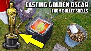 Casting 'Golden' Oscar Award Trophy in Brass from Empty Bullet Shells width=