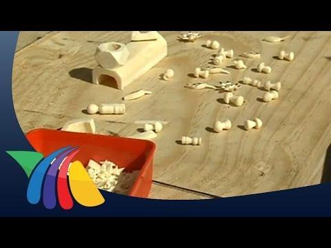 Artesanías de hueso y cuerno de res